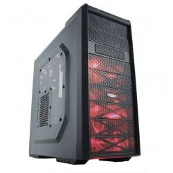 Nox Coolbay SX PRETO/ VERMELHO - Caixa PC
