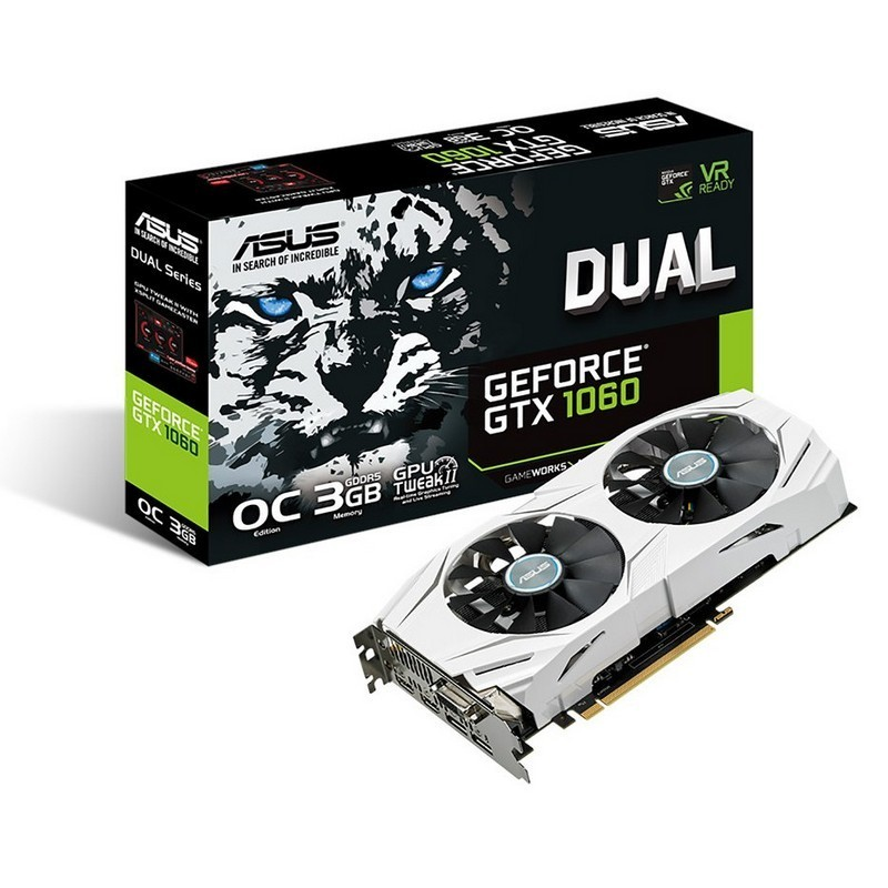 Placa Gráfica ASUS GeForce GTX 1060 Dual 3GB OC