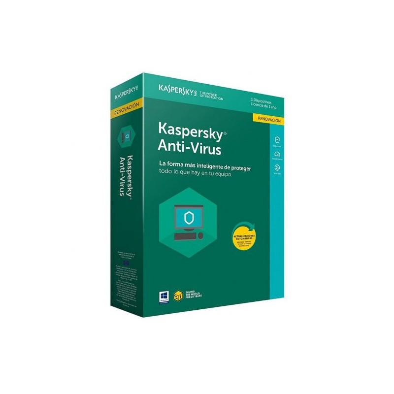 Kaspersky Antivirus 2018 3 Utilizadores (Renovação)
