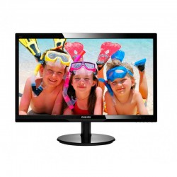 "Monitor Philips 246V5LHAB 24"" FHD LED - Multimédia"