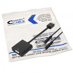 Conversor HDMI a SVGA + AUDIO HDMI/M-SVGA/H+3.5/H PRETO 10 CM+1.0M barato