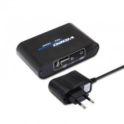 Conversor SVGA+AUDIO a HDMI COM ALIM. SVGA/H+JACK 3.5/H-HDMI/H PRETO online