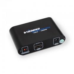 Conversor SVGA+AUDIO a HDMI COM ALIM. SVGA/H+JACK 3.5/H-HDMI/H PRETO
