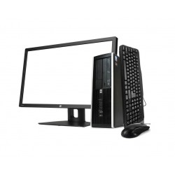 HP 8300 SFF i5 3470 3.2GHz | 4 GB | 500 + 500 HDD | LEITOR | WIN 10 PRO + MONITOR 24""