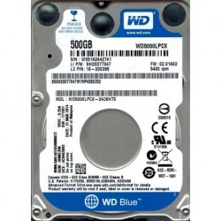 "Disco Rígido 2.5"" Western Digital Blue 500GB 5400RPM 16MB SATA III"