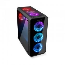 NOX Hummer TGX Arco-íris RGB USB 3.0 Vidro Temperado