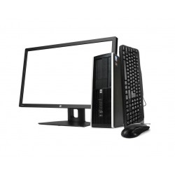 "HP 8300 SFF i5 3470 3.2GHz | 8 GB | 500 HDD | WIFI |GEFORCE GT 710 | WIN 10 PRO | LCD 20"" + TECLADO E RATO"
