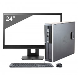 "HP 8300 SFF i7 3770T | 8 GB | 240 SSD | WIFI |GEFORCE GT 710 | WIN 10 PRO | LCD 24"" + TECLADO E RATO"