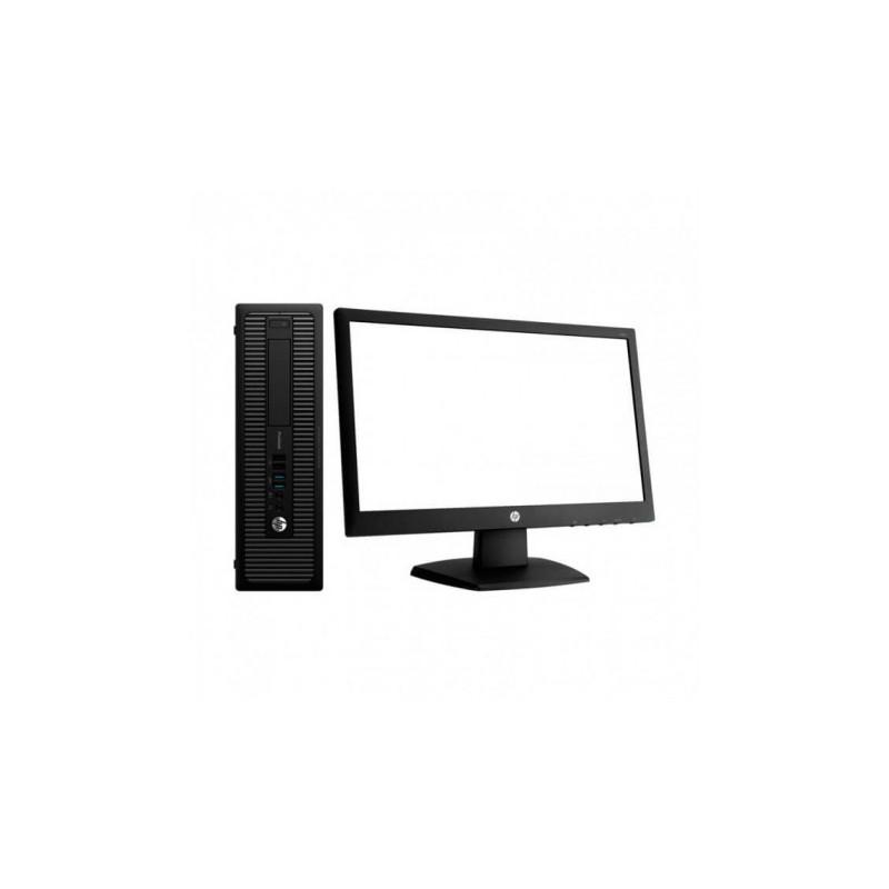 """HP 800 G1 SFF i5 4570   8 GB   240 SSD   WIN 10 PRO   LCD 23"""" + TECLADO E RATO"""