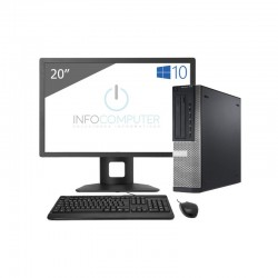 DELL 7010 SFF i5 3470 | 8 GB | 240 SSD + 500 HDD | LEITOR | WIN 10 PRO | LCD 20