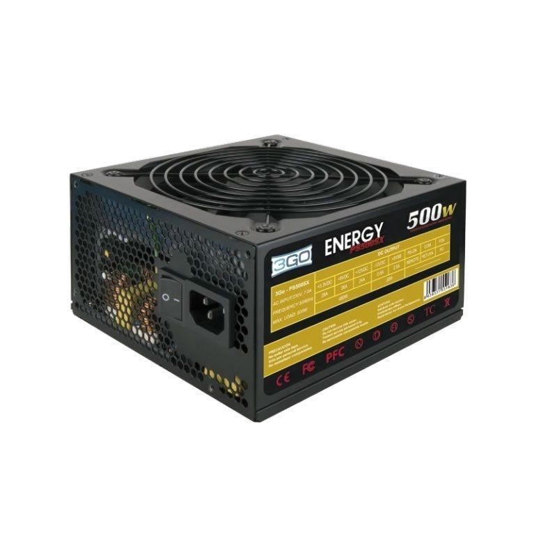 Comprar FONTE ALIMENTASAO 3GO PS500SX   500W   VENTILADOR 12CM   PFC PASIVO   SISTEMA ANTIVIBRACIONES