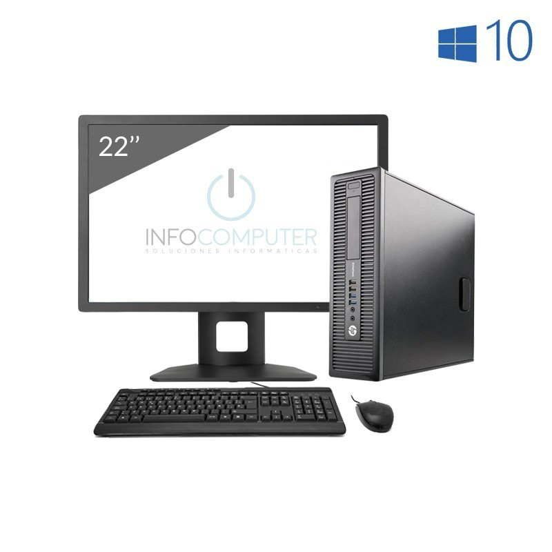 Comprar Lote 10 Uds. HP 800 G1 SFF i5 4570 3.2GHz | 8 GB | 500 HDD | WIN 10 | LCD 22""