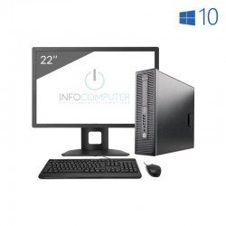 Lote 10 Uds. HP 800 G1 SFF i5 4570 3.2GHz | 16 GB | 240 SSD | WIN 10 | LCD 22""