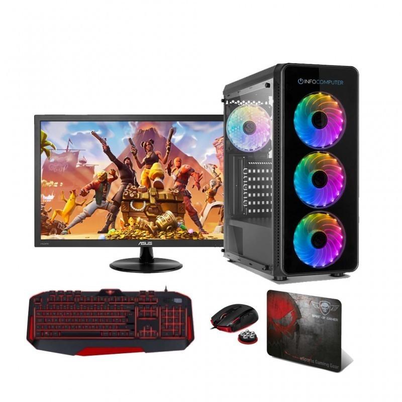 """Comprar PC Gaming INTEL I9 10900 2.8 Ghz   16 Gb DDR4 2666   240 SSD + HDD 1 TB   GTX 1650 4GB   MONITOR 24"""""""