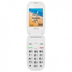 Teléfono móvil LIBRE SPC HARMONY BLANCO   DOBLE PANTALLA   TECLAS GRANDES   DUAL SIM   Cmara   TECLA SOS   BAT LITIO