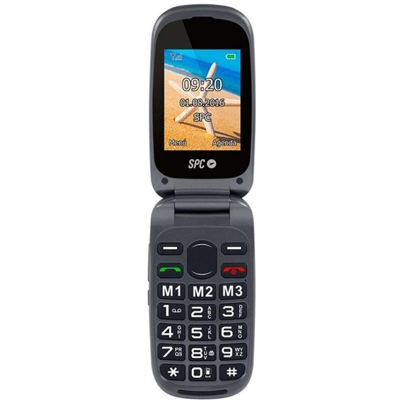Comprar Teléfono móvil LIBRE SPC HARMONY NEGRO   DOBLE PANTALLA   TECLAS GRANDES   DUAL SIM   Cmara   TECLA SOS   BAT LITIO
