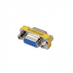 ADAPTADOR VGA NANOCABLE 10.16.0001   CONECTORES HDB15 HEMBRA EN AMBOS EXTREMOS