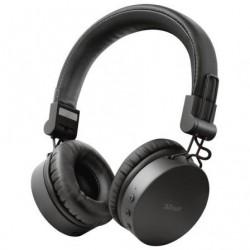 Auriculares Inalambrico Trust Tones 23551  con Microfono  Bluetooth  Negros