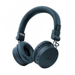 Auriculares Inalambricos Trust Tones 23908  con Microfono  Bluetooth  Azules
