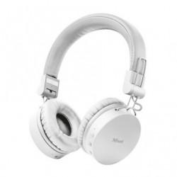 Auscultadores Inalambricos Trust Tones 23909  con Microfone  Bluetooth  Brancos