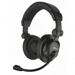 Auriculares Trust Como 21658  con Microfono  Jack 3.5  Negros