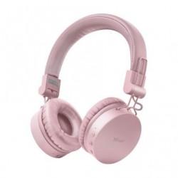 Auscultadores Inalambricos Trust Tones 23910  con Microfono  Bluetooth  Rosas