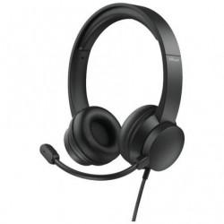 Auriculares Trust HS-200 On-Ear 24186  con Microfono  USB  Negros