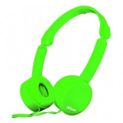 Auscultadores Trust Nano 23101  con Microfono  Jack 3.5  Verdes