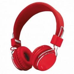 Auscultadores Trust Urban Ziva 21822  con Microfone  Jack 3.5  Vermelho