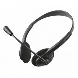 Auriculares Trust Primo Chat 21665  con Microfono  Jack 3.5  Negros