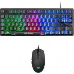 Pack gaming mars gaming mcptkles teclado mecanico + raton optico
