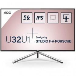 Monitor profesional aoc u32u1 31.5' 4k multimedia negro