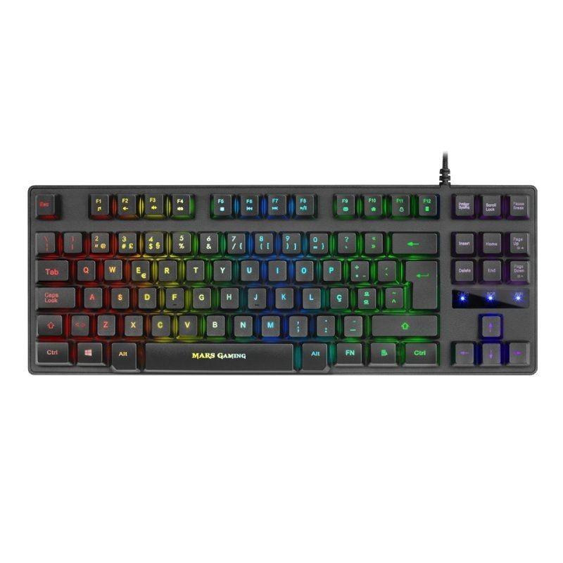 Comprar Teclado portugués Gaming SemiMecánico Mars Gaming MKTKLPT