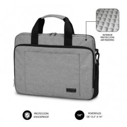 Mala subblim air padding laptop bag pra portatiles até 14' cinta pra trolley cinza