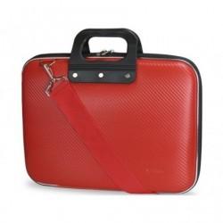 Mala e-vitta bag carbon pra portatiles até 13.3' rigido vermelho