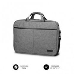 Mala subblim elite laptop bag pra portatiles até 14' cinta pra trolley cinza