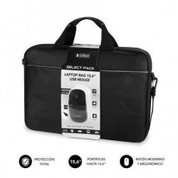 Mala + rato subblim select pack pra portatiles até 15.6' cinta pra trolley preto