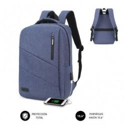 Mochila subblim city backpack pra portatiles até 15.6' porto usb azul