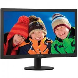 PHILIPS VLINE 223V5LHSB 21,5 'FULL HD 5MS 10M: 1 LED MONITOR 250CD VGA HDMI VESA 100X100 PRETO