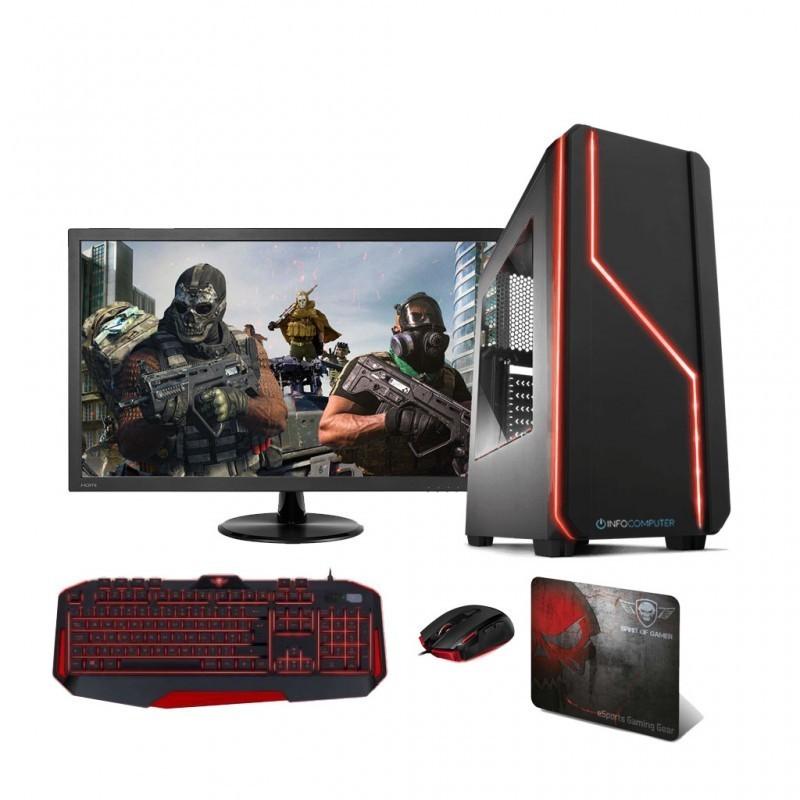 Comprar PC Gaming INTEL I3 9100 (9º) 3.6 Ghz | 8GB DDR4 2666| 240 SSD | MONITOR 24