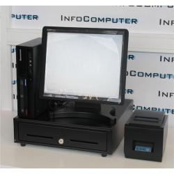 """Terminal POS (Monitor Tactil 15"""" + IMPRESSORA + GAVETA + LEITOR CÓDIGO BARRAS) online"""