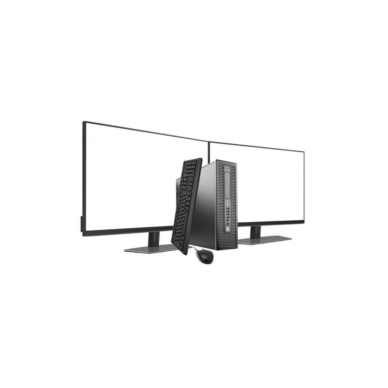 Comprar HP 800 G2 SFF I5 6500 3.2 GHz | 16 GB | 480 SSD | GRAFICA 2GB | WIFI | WIN 10 PRO | 2 X LCD 24 NOVO