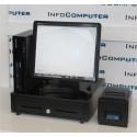 """POS completo( PC coa w7pro +Monitor Tactil 15"""" + Impressora + Gaveta + Teclado e Rato )"""